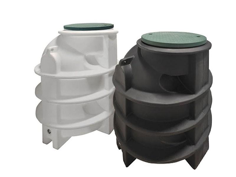 Vodoměrná šachta ABV-1200/1800 ROTO  (v provedení černá / bílá)